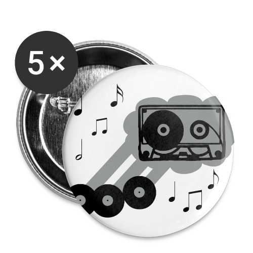 Music pin - Large Buttons