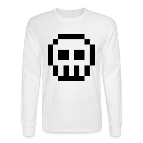 pixelized skull long sleeve - Men's Long Sleeve T-Shirt