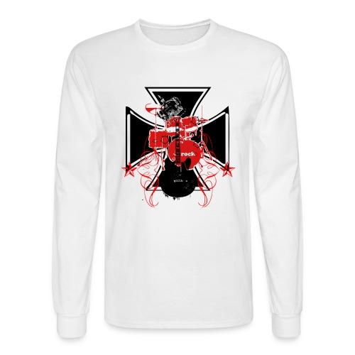 Iron Cross, drums, guitar - Men's Long Sleeve T-Shirt