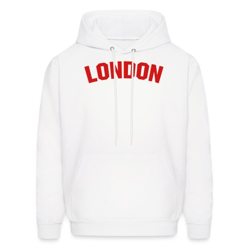 London Sweater White/Red - Men's Hoodie