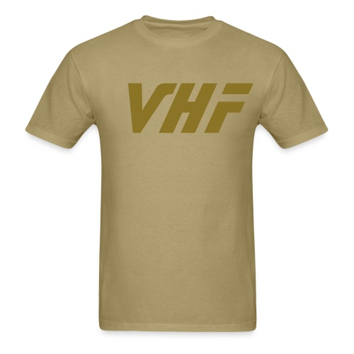 Male VHF style front/back design shirt - Men's T-Shirt