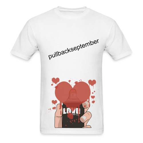 White T-shirt Love - Men's T-Shirt