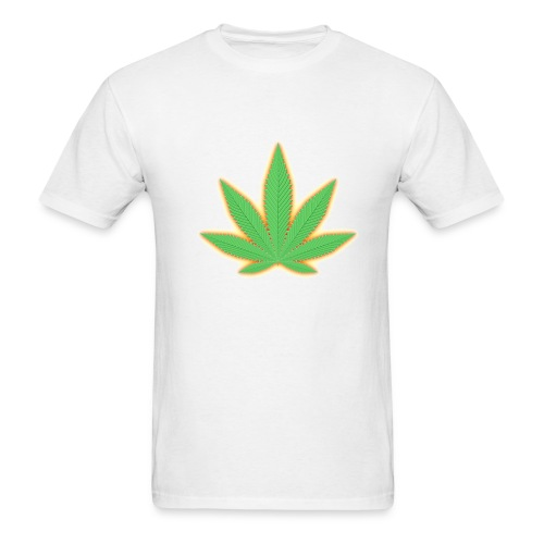 ACD t-shirt with leaf on front and map on back - Men's T-Shirt