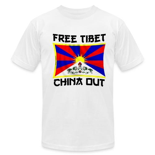 china out Tibet - Men's  Jersey T-Shirt