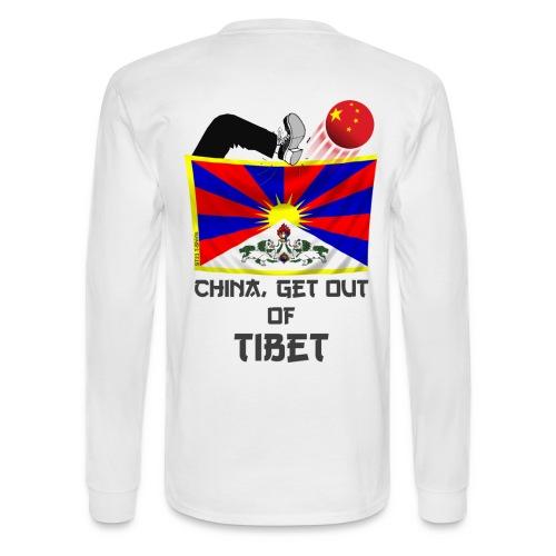 china out Tibet - Men's Long Sleeve T-Shirt