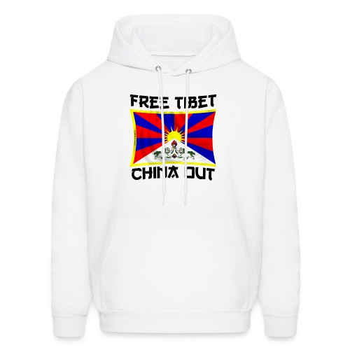 free Tibet, china out - Men's Hoodie
