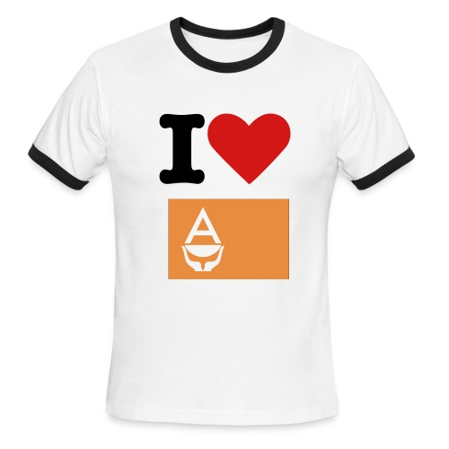 I Heart Antarctica - Men's Ringer T-Shirt