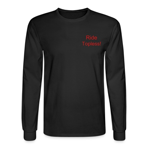 Ride topless Black LS - Men's Long Sleeve T-Shirt