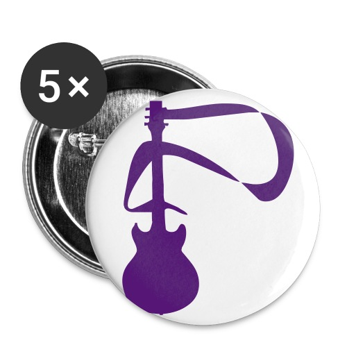 Guitar Pin (Purple) - Small Buttons