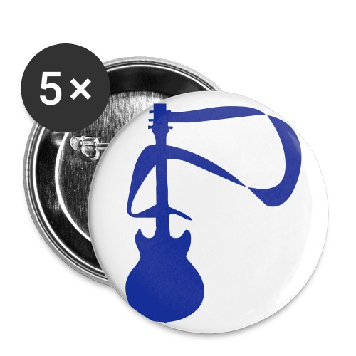 Guitar Pin (Blue) - Small Buttons