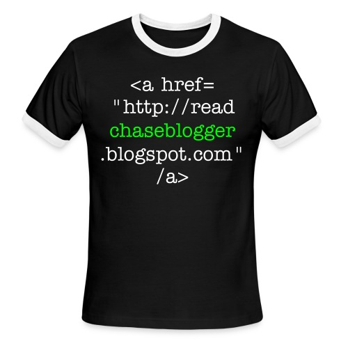Men's Ringer T-Shirt - Hard links don't work as well on t-shirts as they do on websites, but the idea is the same.