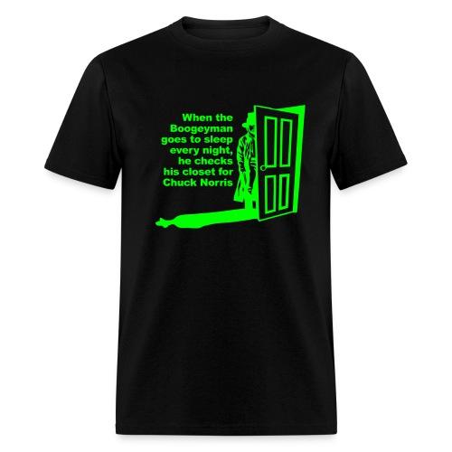 Boogyman and Chuck Norris - Men's T-Shirt