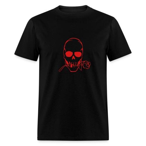 Skull With Rose T-Shirt - Men's T-Shirt