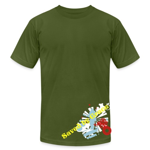 Saved by Grace Music Man Olive - Men's  Jersey T-Shirt