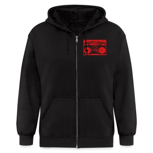 ghettoblaster - Men's Zip Hoodie