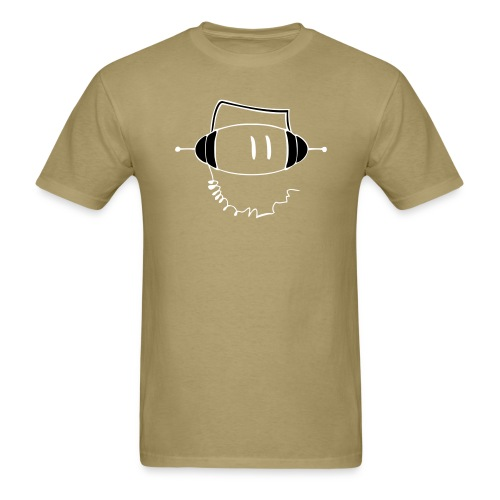 SuperDeeJay/Tan/Wite - Men's T-Shirt