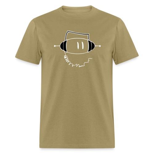SuperDeeJay/Tan/Wite - Men's T-Shirt