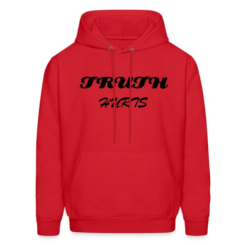 Men's Hoodie - RED TRUTH HURTS HOODIE WITH J-ZIMMY ON BACK