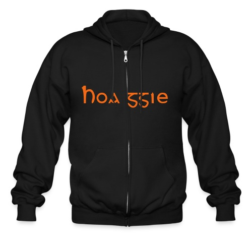 Hoaggie-Zip Up/Black-Orange - Men's Zip Hoodie