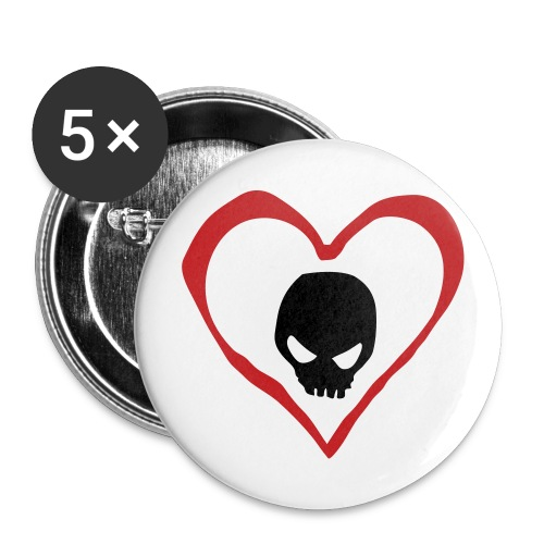 Heart And Skull Button - Large Buttons