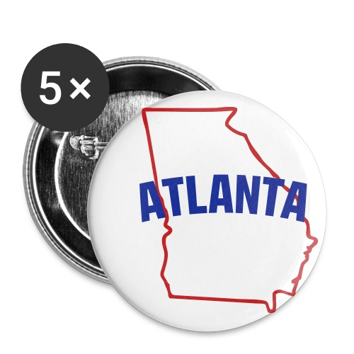Atlanta GA Small Buttons 5 Pack - Small Buttons