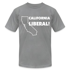 California Liberal! - Men's T-Shirt by American Apparel