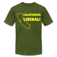 T-Shirts ~ Men's T-Shirt by American Apparel ~ California Liberal!