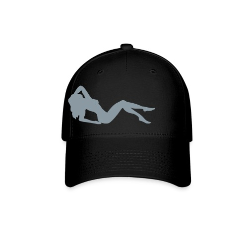 black hat w/ metallic babe - Baseball Cap