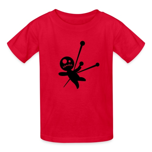 red T with doll - Kids' T-Shirt