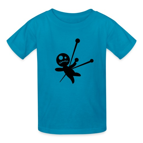pink T with doll - Kids' T-Shirt