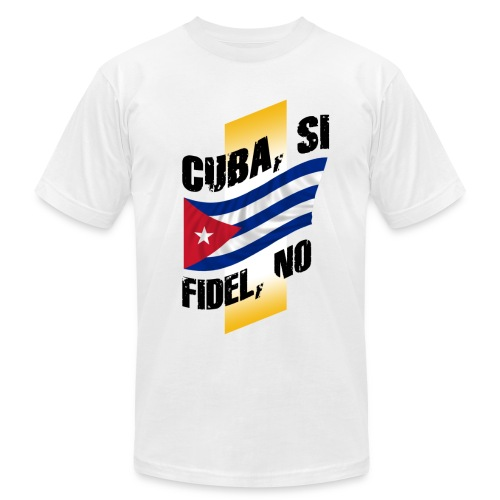 Cuba si, fidel no - Men's Fine Jersey T-Shirt