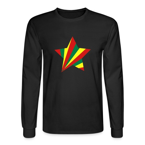rasta star - Men's Long Sleeve T-Shirt
