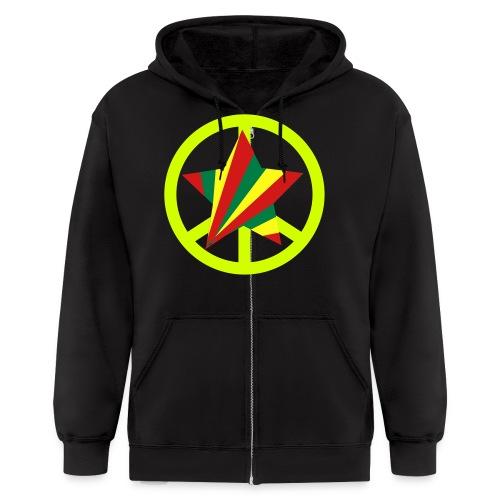 peace star zip up hoodie - Men's Zip Hoodie