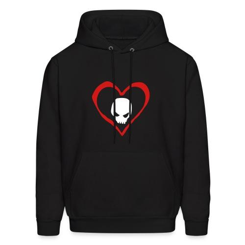 Heart Skull Pullover - Men's Hoodie
