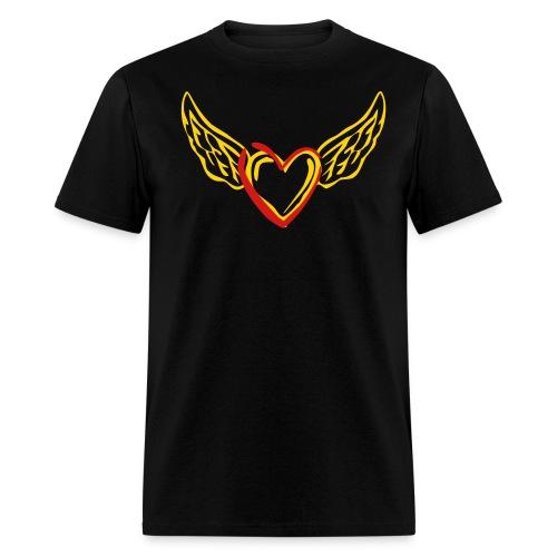 Heart Wings Cotton T-Shirt - Men's T-Shirt