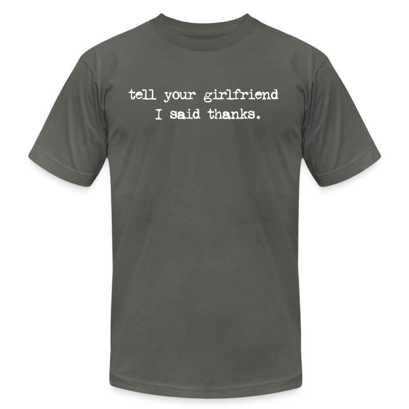 girlfriend tee - Men's T-Shirt by American Apparel