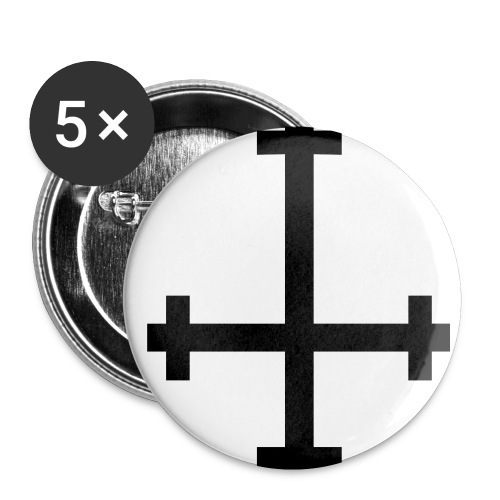 upside down cross - Small Buttons