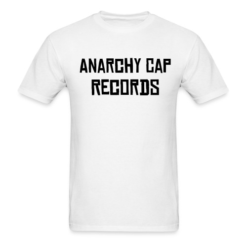 Anarchy Cap Records Tee (White) - Men's T-Shirt