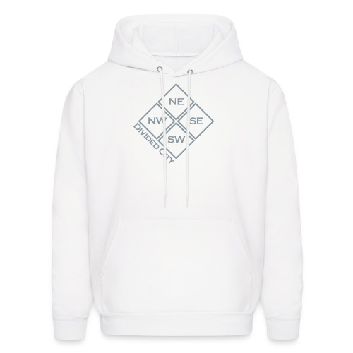 [White Divided City Hoody] ** Metallic ** - Men's Hoodie
