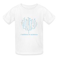 Kids' Shirts ~ Kids' T-Shirt ~ Kid's Tree of Life: White (Light Blue)