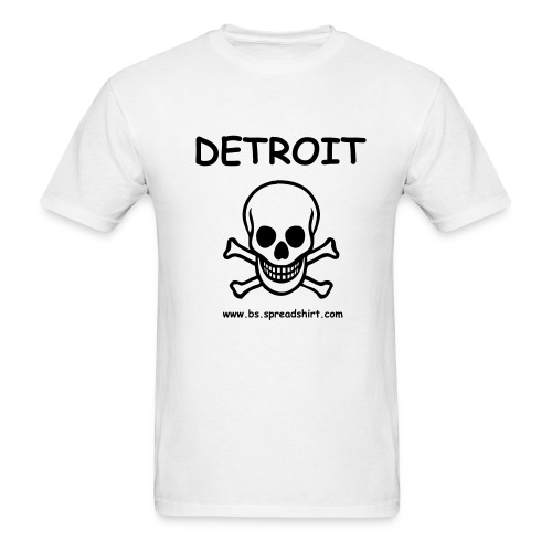 DETROIT Skull T Shirt - Men's T-Shirt