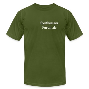 Synthesizerforum mit Ärmeldruck - Men's T-Shirt by American Apparel