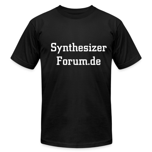 Synthesizerforum ohne Ärmeldruck - Men's T-Shirt by American Apparel