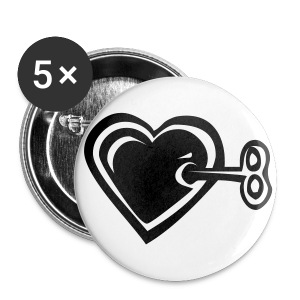 Heart+Key - Large Buttons