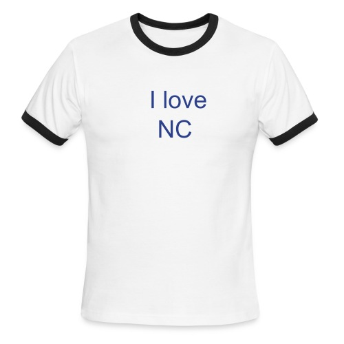 I love NC - Men's Ringer T-Shirt