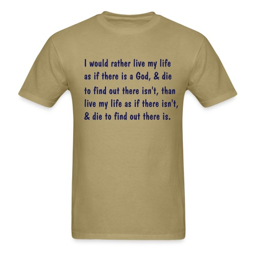I would rather live... - Men's T-Shirt