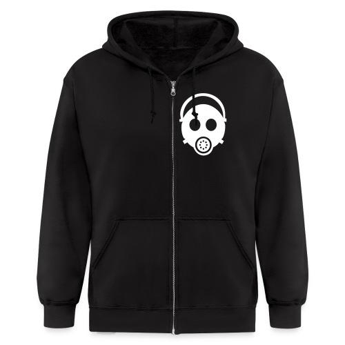 Hoodie: Skull with gun - Men's Zip Hoodie