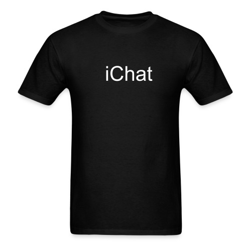 iChat Black - Men's T-Shirt