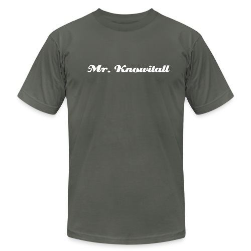 Mr. Knowitall - Men's Fine Jersey T-Shirt