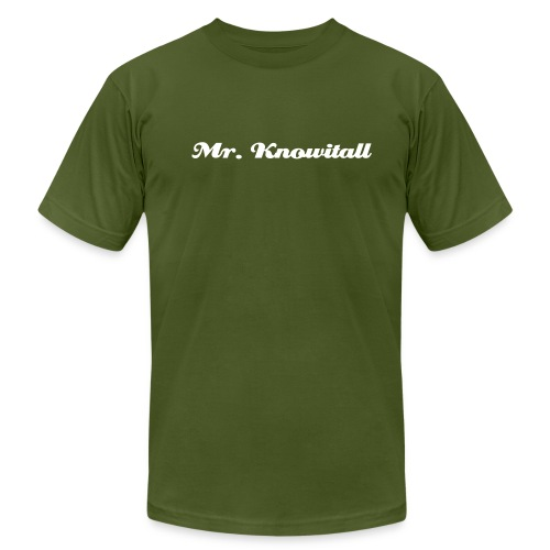 Mr. Knowitall - Men's  Jersey T-Shirt
